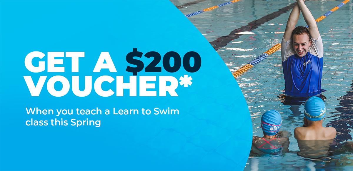 Become A Swim Instructor & Receive A $200 Voucher*!